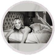 Diane Kruger Round Beach Towel