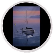 Diapensia At First Light Round Beach Towel