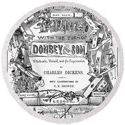 Dickens: Dombey And Son Round Beach Towel
