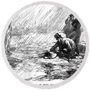 Dickens: Our Mutual Friend Round Beach Towel