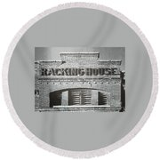 Dick's Brewery-historical Architecture  Round Beach Towel