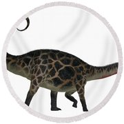 Dicraeosaurus Side Profile Round Beach Towel