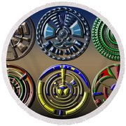 Digital Art Dials Round Beach Towel