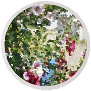 Digital Artwork 1399 Round Beach Towel