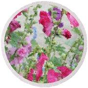 Digital Artwork 1417 Round Beach Towel