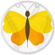 Digital Butterfly Round Beach Towel