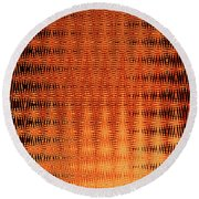 Digital Copper Plate Abstract Round Beach Towel