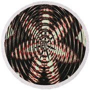 Digital Fan Abstract Round Beach Towel