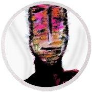 Digital Painting 082 Round Beach Towel