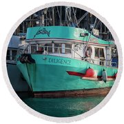Diligence At French Creek Round Beach Towel