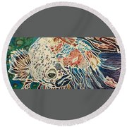 Diluted Betta Round Beach Towel
