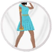Dima Round Beach Towel
