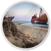 Dimitrios Shipwreck Round Beach Towel