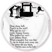 Ding, Dong, Bell Round Beach Towel