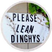 Dinghy Do's Round Beach Towel
