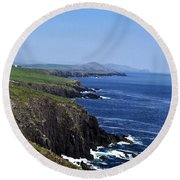 Dingle Coast Near Fahan Ireland Round Beach Towel