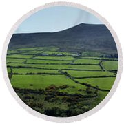 Dingle Peninsula Panorama Ireland Round Beach Towel