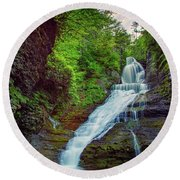 Dingmans Falls Round Beach Towel