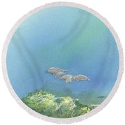 Dining Out Round Beach Towel