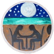 Dinner For Two Round Beach Towel