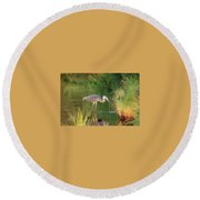 Dinner Time Round Beach Towel