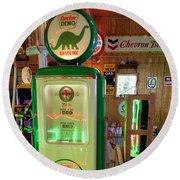 Dino Gasoline Round Beach Towel