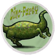 Dino Party Round Beach Towel