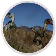 Dinosaur 10 Round Beach Towel