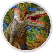 Dinosaur 12 Round Beach Towel