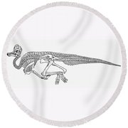 Dinosaur: Corythosaurus Round Beach Towel