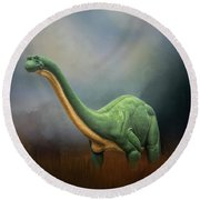 Dinosaur Valley State Park Round Beach Towel