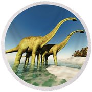 Dinosaur World Round Beach Towel