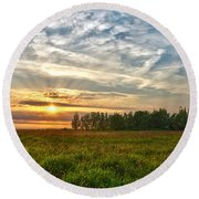 Dintelse Gorzen Sunset Round Beach Towel