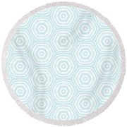 Dip In The Pool -  Pattern Art By Linda Woods Round Beach Towel