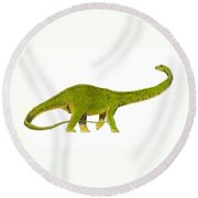 Diplodocus Round Beach Towel