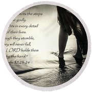 Directed Steps Round Beach Towel