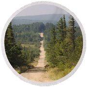Dirt Road To Dolly Sods Round Beach Towel