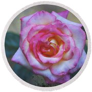 Dirty Pink Rose Round Beach Towel