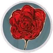 Dirty Rose Round Beach Towel