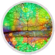 Disappearing In Colour Round Beach Towel