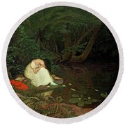 Disappointed Love Round Beach Towel by Francis Danby
