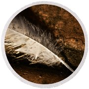Discarded Feather Round Beach Towel