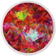 Disco Round Beach Towel