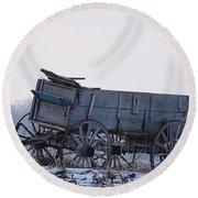 Discovery From The Past Round Beach Towel