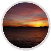 Discovery Park Sunset 6 Round Beach Towel