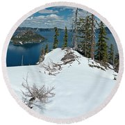 Discovery Point Panorama Round Beach Towel