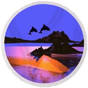 Discovery- Round Beach Towel
