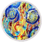 Disintegrated Element Round Beach Towel