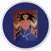 Dismembered Woman Round Beach Towel