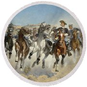 Dismounted The Fourth Troopers Moving The Led Horses Round Beach Towel